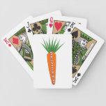 Una zanahoria para los naipes del reno del navidad barajas