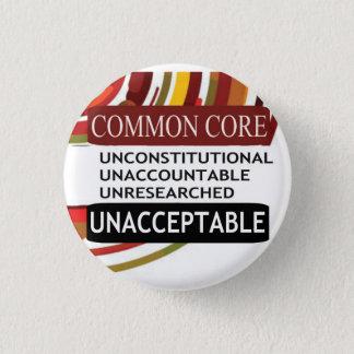 Unacceptable Common Core Pinback Button