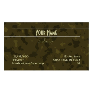 Unadorned Lines (light on moss green pattern) Business Card Template