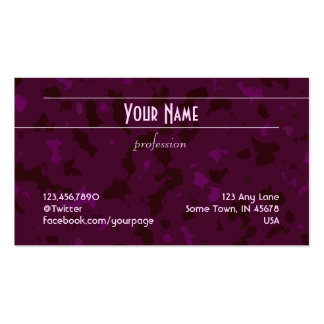Unadorned Lines (lilac on purple pattern) Business Card