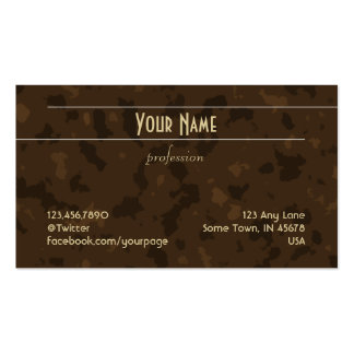 Unadorned Lines (tan on brown pattern) Business Card