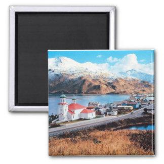 Unalaska Alaska 2 Inch Square Magnet