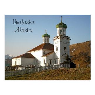 Unalaska Russian Church Postcard