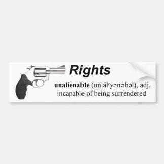 Unalienable Rights bumper sticker