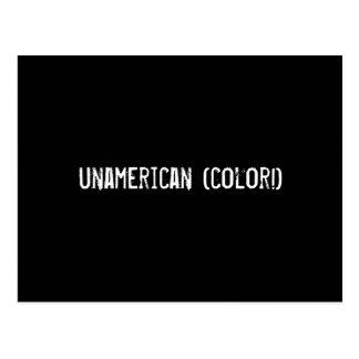 unamerican (color!) postcard