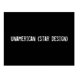 unamerican (star design) postcard
