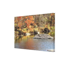 Unami Creek Near Musser Boy Scout Reservation Canvas Print