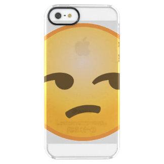 Unamused Emoji Clear iPhone SE/5/5s Case