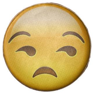 Unamused Face Emoji Chocolate Dipped Oreo