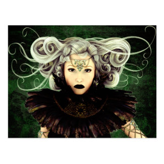 Unamused Gothic Art Postcard