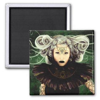 Unamused Gothic Artwork 2 Inch Square Magnet