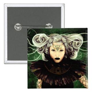 Unamused Gothic Artwork Button