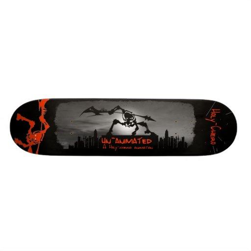 unanimated bored skate board