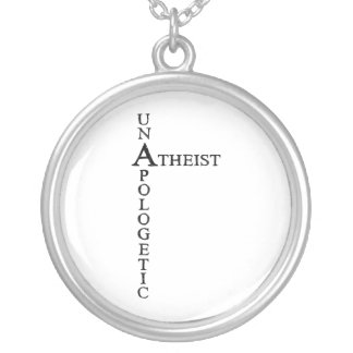 Unapologetic Atheist Silver Plated Necklace