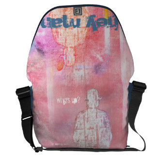 """#unartig curing ashes """"hey one"""" (largely) courier bag"""