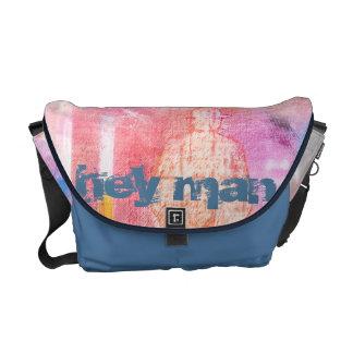 """#unartig curing ashes """"hey one"""" (medium) courier bag"""