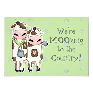 unas par de vacas lindas del MOO que mueven la Invitacion Personalizada