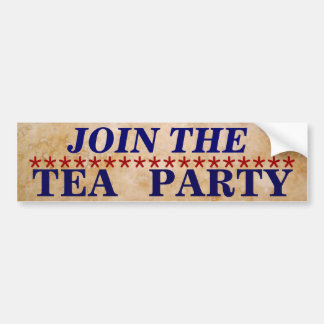 Únase a a la fiesta del té pegatina para auto