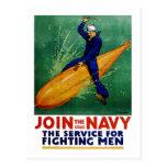 Únase a a la marina de guerra postal