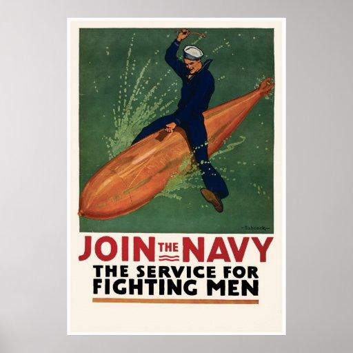 Únase a a la marina de guerra posters