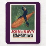 Únase a a la marina de guerra alfombrillas de raton