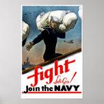 Únase a a la marina de guerra -- WW2 Póster