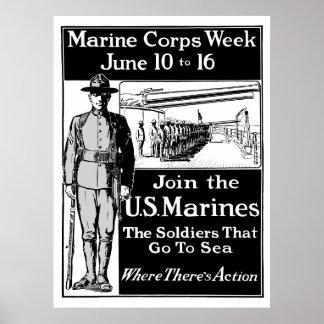 Únase a a los infantes de marina de los E.E.U.U. Poster