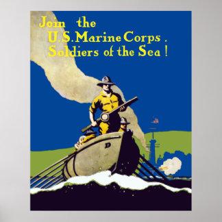 Únase a a los infantes de marina de los E.E.U.U. Impresiones