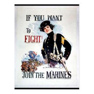 Únase a a los infantes de marina postal
