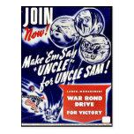 Únase a ahora hacen 'tío Sam de tío For de Emsay Postales
