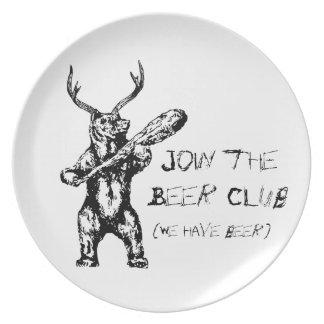 Únase a al club de la cerveza plato