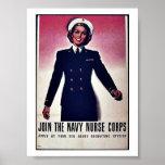 Únase a al cuerpo de enfermera de la marina de gue posters