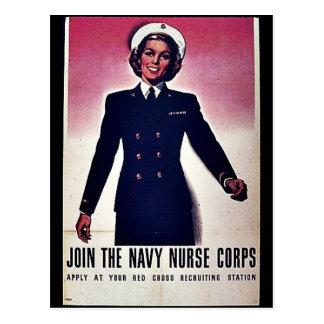 Únase a al cuerpo de enfermera de la marina de tarjetas postales