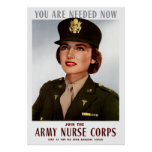 Únase a al cuerpo de enfermera del ejército impresiones