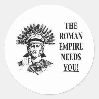 Únase a al ejército - imperio romano etiqueta redonda