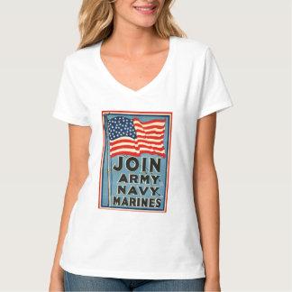 Únase a al ejército, marina de guerra, infantes de polera