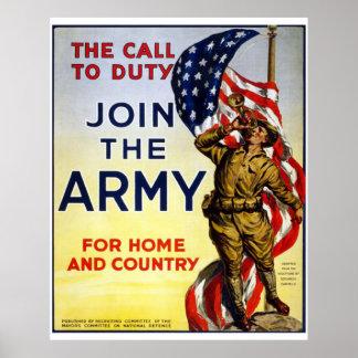Únase a al ejército póster