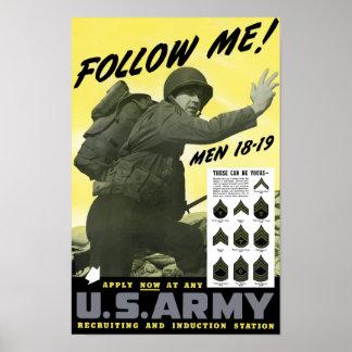 Únase a al ejército -- WWII Póster