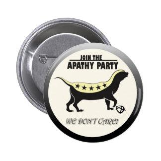 Únase a al fiesta de la apatía pin redondo de 2 pulgadas
