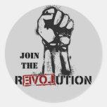 Únase a al pegatina de la revolución