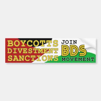 Únase a la ayuda Palestina del movimiento de BDS Pegatina Para Auto