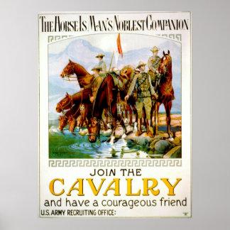 Únase a la caballería 1920 póster