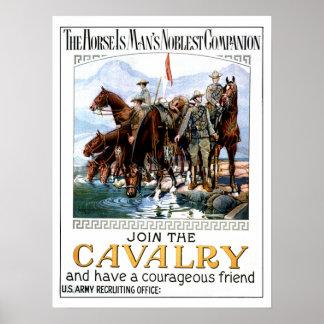 Únase a la caballería póster