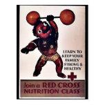 Únase a la clase de la nutrición de la Cruz Roja Postales