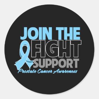 Únase a la conciencia del cáncer de próstata de la pegatina redonda