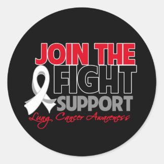Únase a la conciencia del cáncer de pulmón de la pegatina redonda
