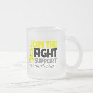 Únase a la conciencia del sarcoma de la ayuda de l taza cristal mate