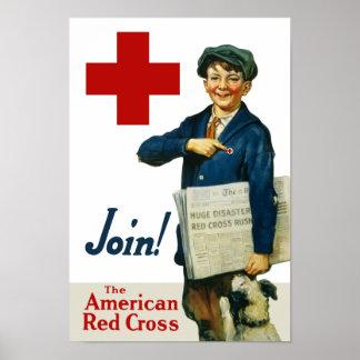 Únase a la Cruz Roja americana Impresiones
