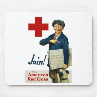 Únase a la Cruz Roja americana Mouse Pads