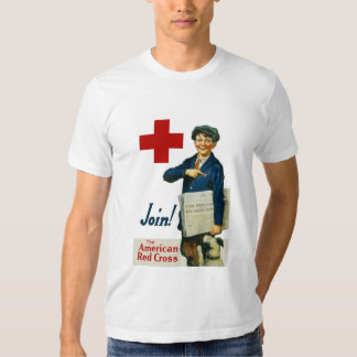 Únase a la Cruz Roja americana Remera